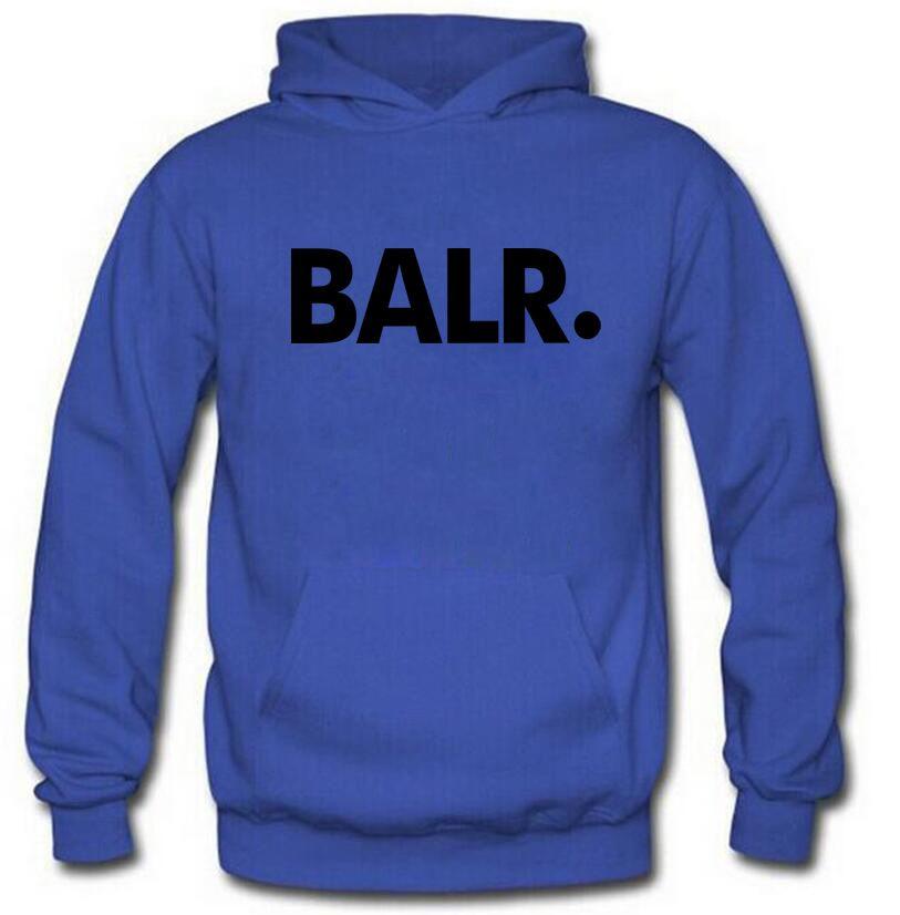 Men BALR Printed Fleece Hoodies Spring Autumn Winter Long Sleeved Hooded Tops Casual Hip Pop Pullover Punk Mens Sportswear Sweatshirt