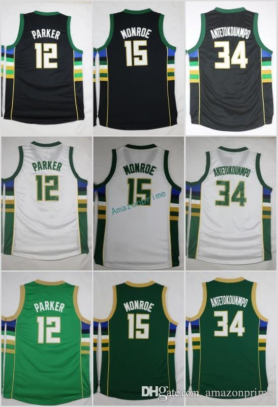 ... get 2017 men 34 giannis antetokounmpo jersey black green white sports  12 jabari parker 15 greg 8ff8f894e