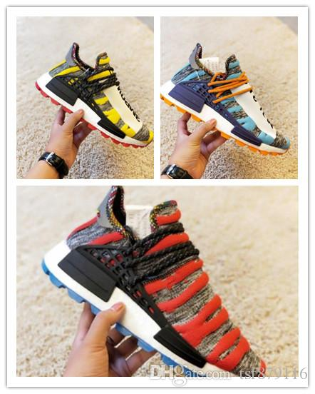 2f1c51450 2019 Wholesale PW HU HOLI NMD MC Running Shoes Men Women Triple Trainer  Sports Shoes Sneakers Size 36 45 From Tsf879116