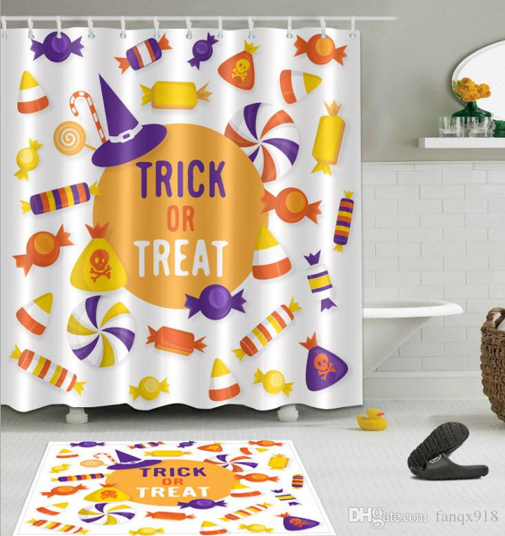 2019 Halloween Happy Candy 3D Digital Printing Polyester Shower Curtain Personality From Fanqx918 1408