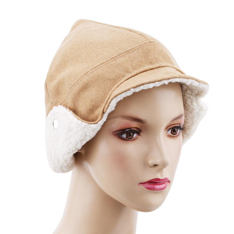 2019 2018 Winter Women New Bomber Hats Casual Lamb Fur Bucket Hat Female  Windproof Ear Protection Thick Warm Protective Ear Cap Hats From Juemin 5afb232c44d