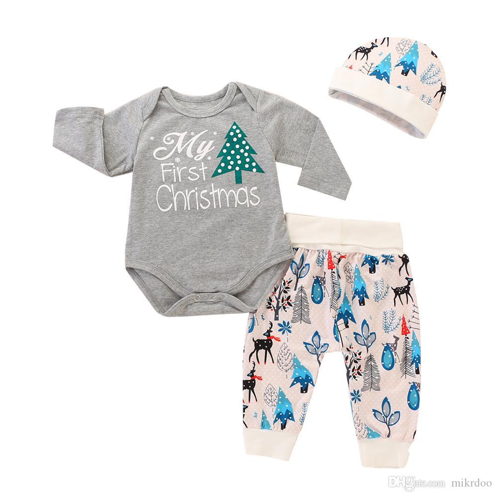 b703dd5b6a85 2019 Mikrdoo Newborn Infant Baby Christmas Clothes Set My First ...