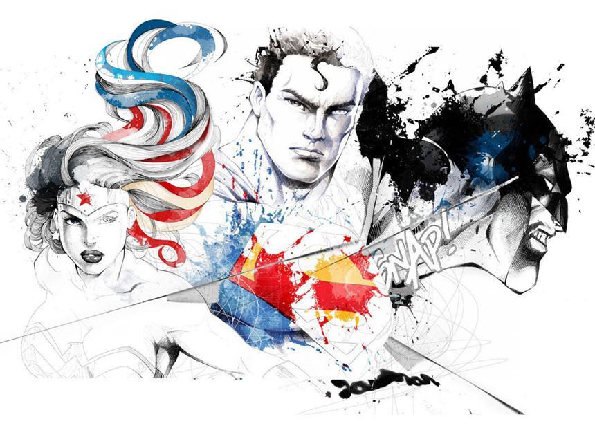 Satın Al Süpermen Batman Wonder Woman Ev Dekor Hd Baskılı Tuval