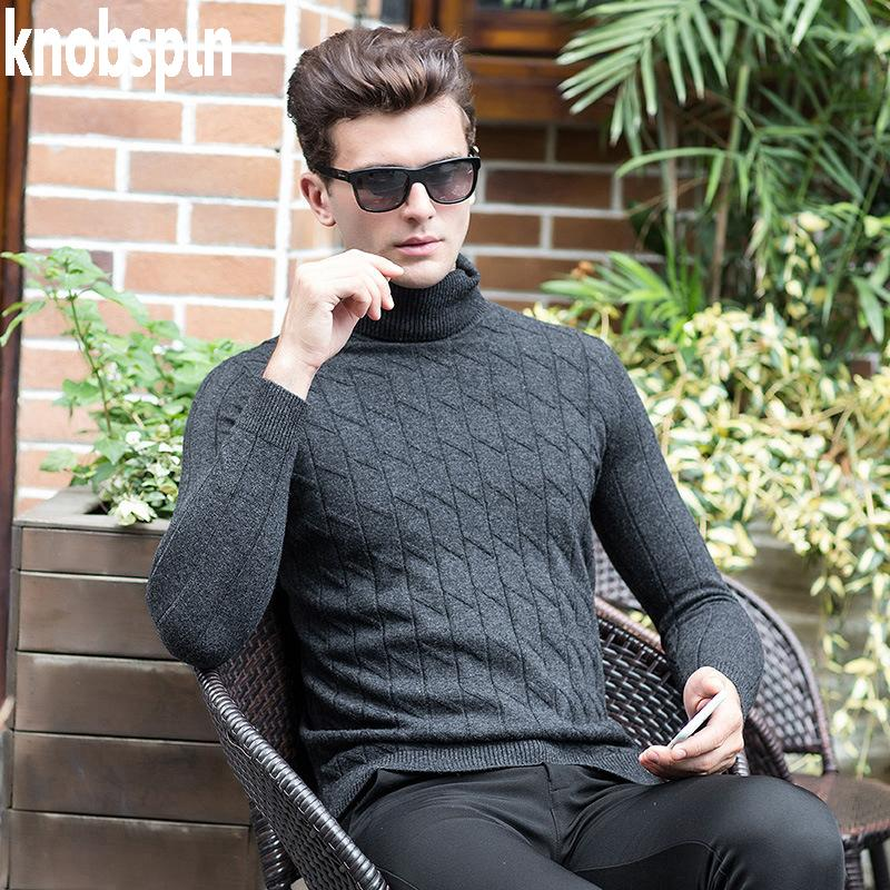 2017 Winter 100% Pure Wool Sweater Men Thick Warm Solid Slim Knitwear  Jumpers Turtleneck Sweaters Pullovers Homme Plus Size UK 2019 From  Fabian05 ecc776732
