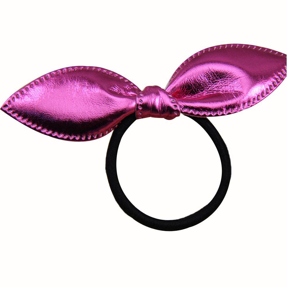 Neueste!!! Nette einzelne Paillettenkaninchenohren Gummiband-Mädchen-Haar-Zusätze künstliches materielles tete cheveux femme