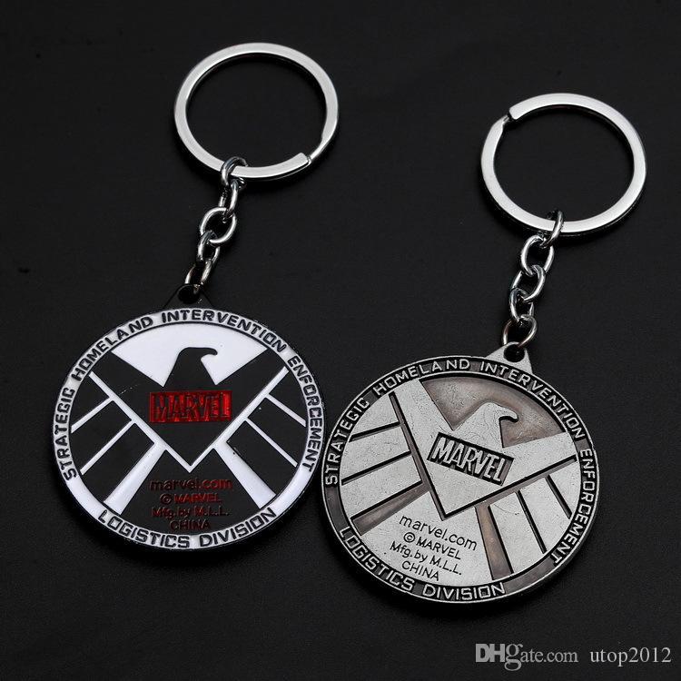 envío Metal man Marvel Avengers Capitán América Llavero del escudo de la araña de hierro hombre máscara Llavero Juguetes Batman Hulk pendientes de la llave del coche de DHL