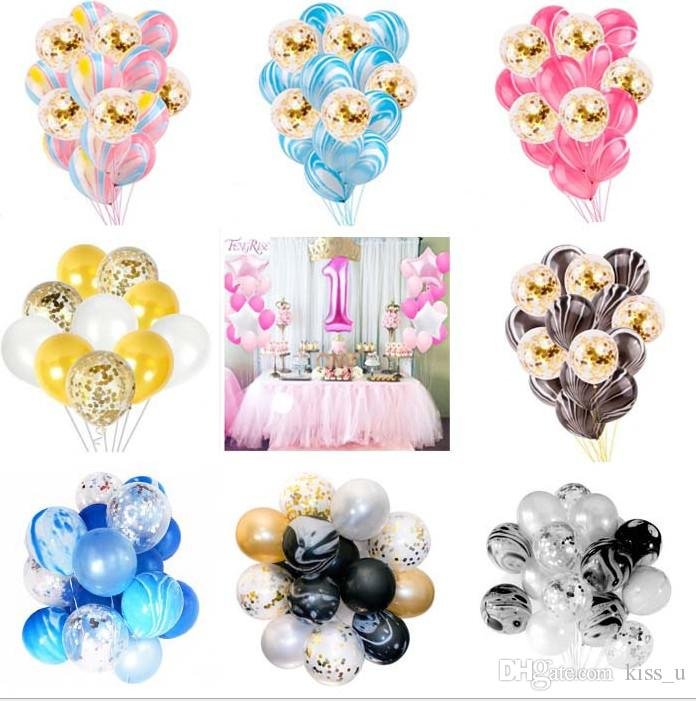 12inch 9 Styles Agate Marble Latex Balloons 2018 Wedding Birthday Decoration Helium Supplies Baby Shower Garden Decor Images Of