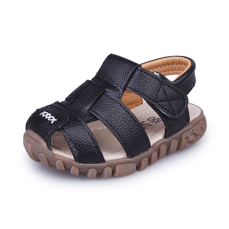 0218fffaf874 Acheter Bébé Garçon D été Sandales Enfant En Bas Âge Enfants Sandales De  Plage Enfants Fermé Toe Chaussures De Plein Air Enfants Sport Chaussures  Sneakers ...
