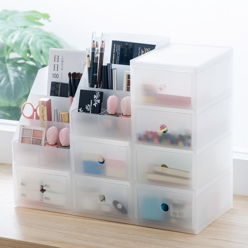 2019 Fashion Plastic Cosmetic Makeup Storage Box Desktop Storage