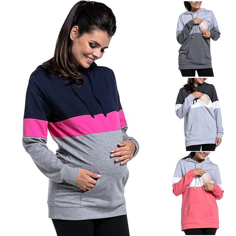 04b756798f4e Acheter Femmes Maternité Sweat À Manches Longues Poche De La Mode De L  allaitement Enceinte Allaitement AN88 De  27.55 Du Hanlley   DHgate.Com