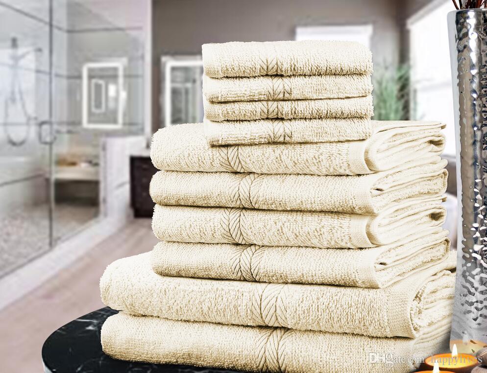 ЭЛИТНАЯ ПОЛОТЕНЦЕДЕРЖАТЕЛЬ ТЮКОВ SET 100% хлопок СТОРОНА ванночки полотенца 9