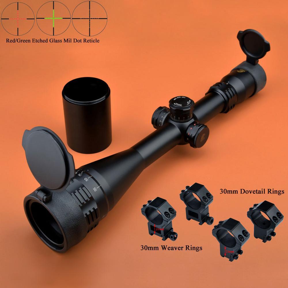 d15298c42a1cd Acquista Eagle Eye Scopes Optics 4 16x50 AO R   G Scope Caccia W   2 Tipi  Di Supporti Vetro Mil Dot Rifle Scope A  132.06 Dal Yigu006