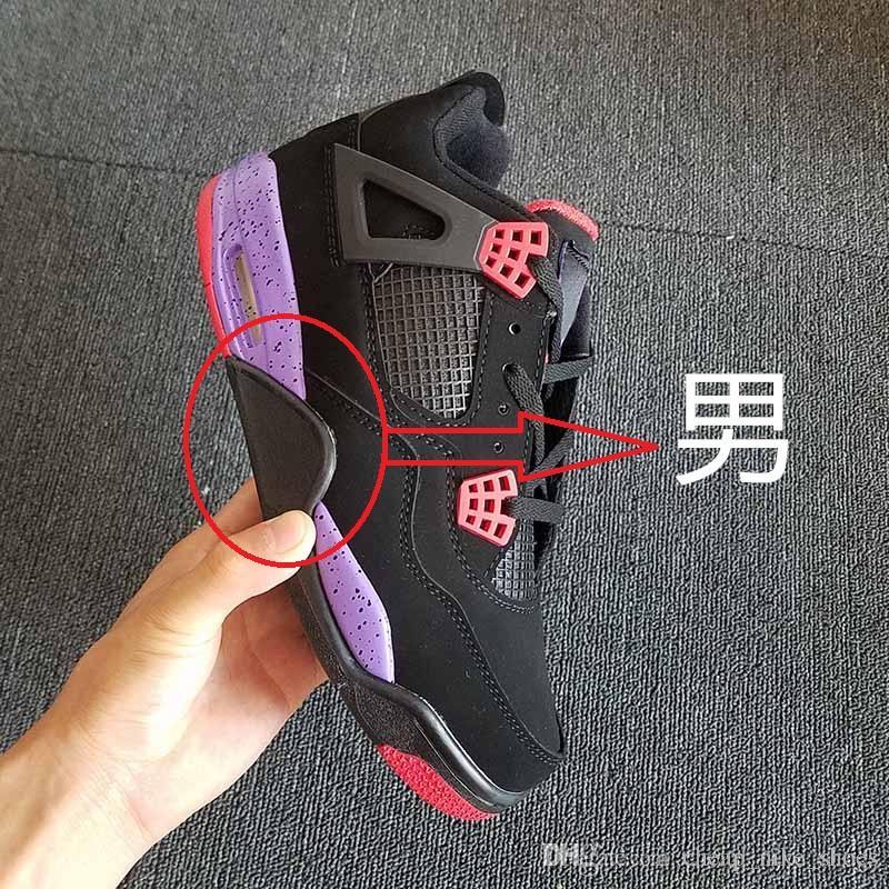 Мужчины Женщины 4 NRG хищники черный университет Красный суд фиолетовый баскетбол обувь резиновые подошва спортивные кроссовки Aq3816-056 с коробкой