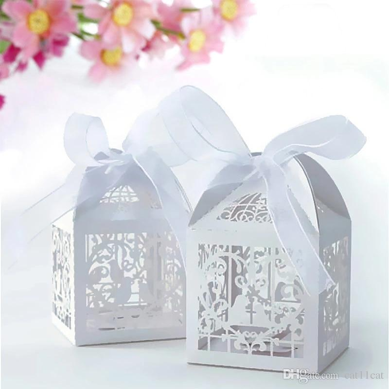 Laser Cut Wedding Sweets Love Wedding Favor Candy Gifts Boxes Box
