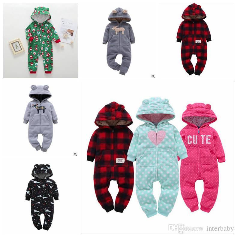 2e76ef179 2019 INS Baby Romper Boy Girl Christmas Elk Jumpsuit Children Llama ...