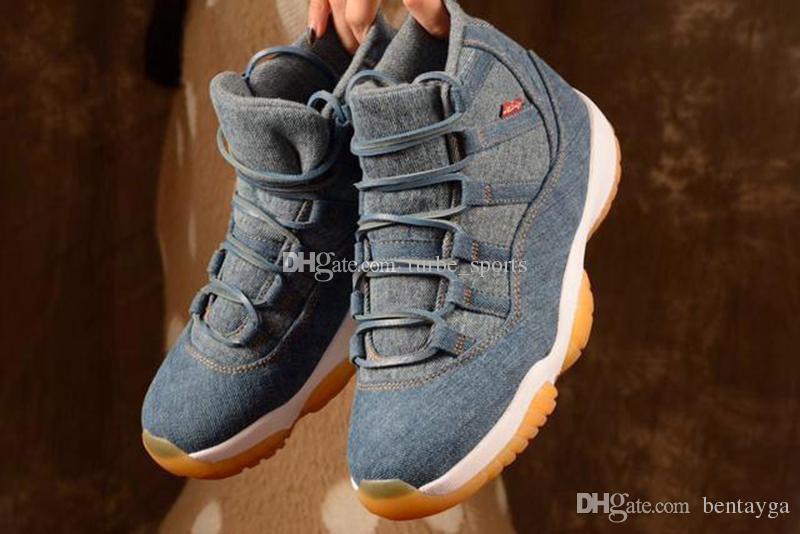 de Basketball Nrg Chaussures 11s Blau Hohe Levis Neue 2018 ChaussuresMänner Qualität 11 Tennis Jeans Box Retro Homme Mit Denim Ls Travis dhxrCtsQ