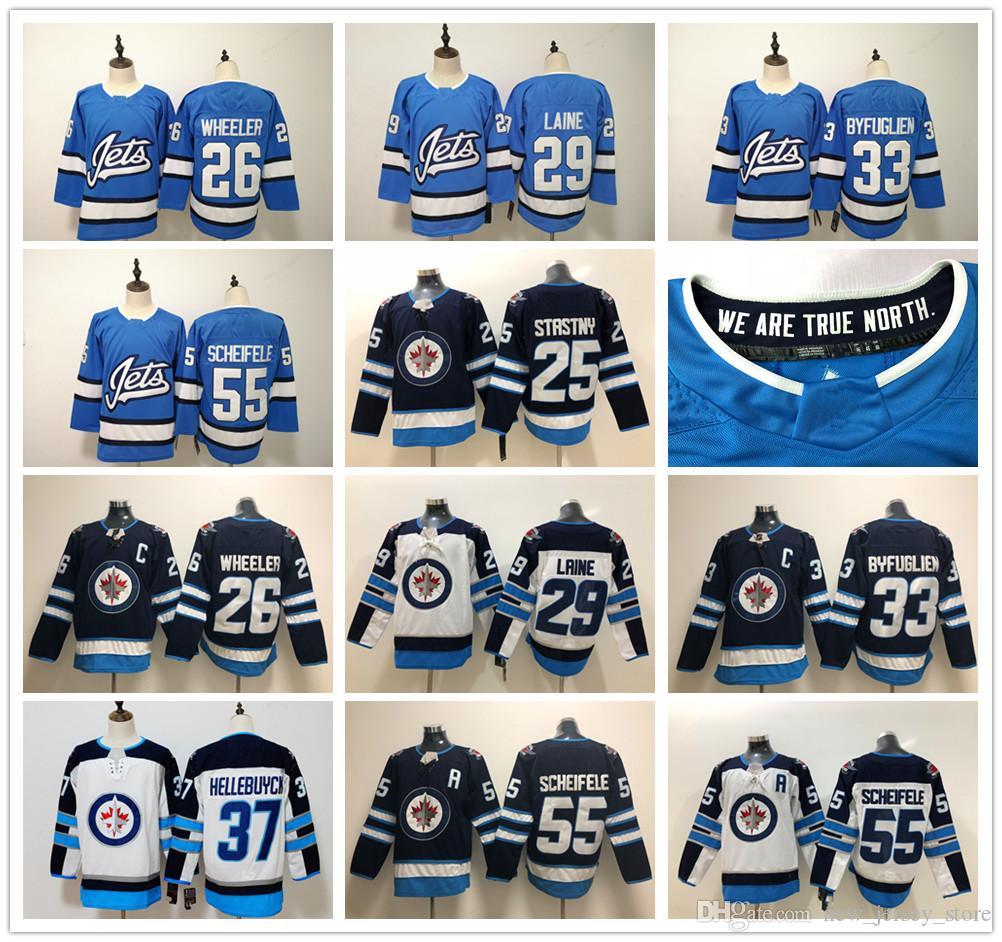 904b32537b4 2019 Winnipeg Jets Hockey 29 Patrik Laine Jersey Light Blue White 26 Blake  Wheeler Dustin Byfuglien Mark Scheifele Paul Stastny Connor Hellebuyck From  ...