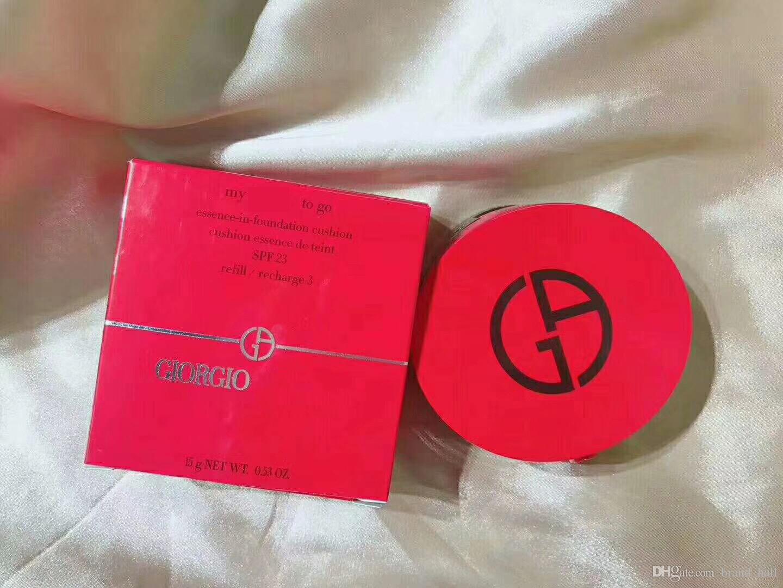 12шт DHL доставка shLuxury Джорджио мой бренд, чтобы пойти суть в Фонд подушка $PF 23 Maquiagem воздушной подушке BB крем