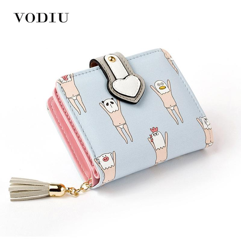 f2afc28763c 2017 Korean Cute Anime Cat Leather Trifold Hasp Mini Wallet Women Small  Clutch Female Purse Brand Coin Card Holder Dollar Price