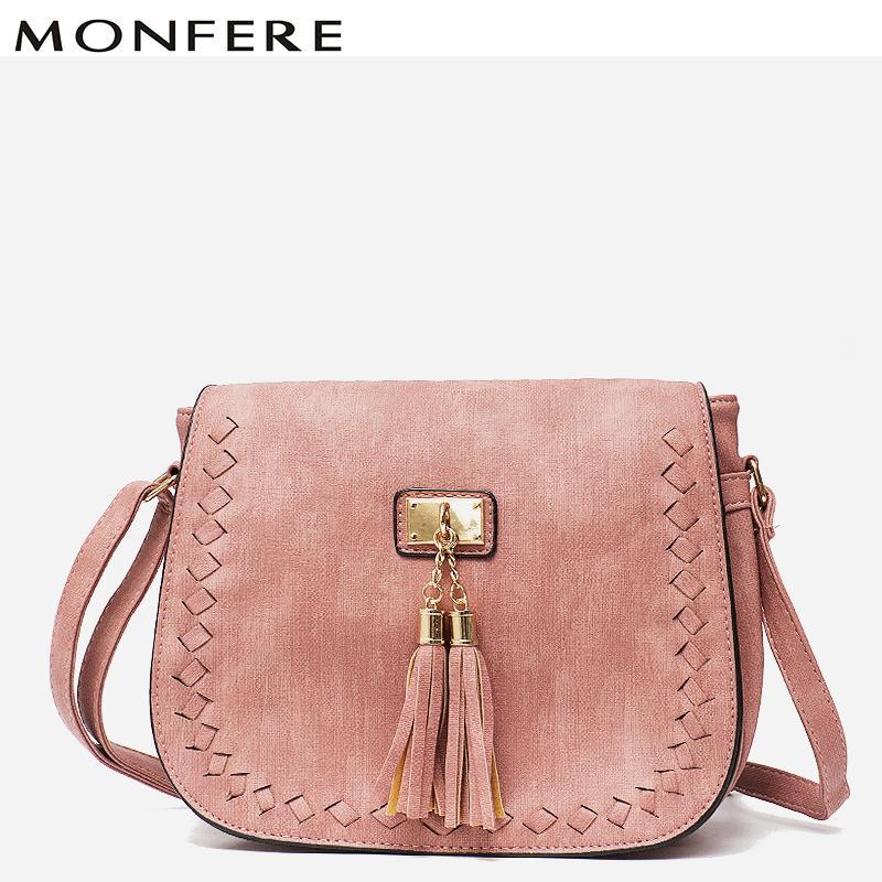 1257474a7038 MONFE High Quality Small Ladies Flap Messenger Bags Vegan Leather Shoulder  Bags For Women 2018 Crossbody Bag Girl Tassel Handbag Women Bags Leather  Bags For ...