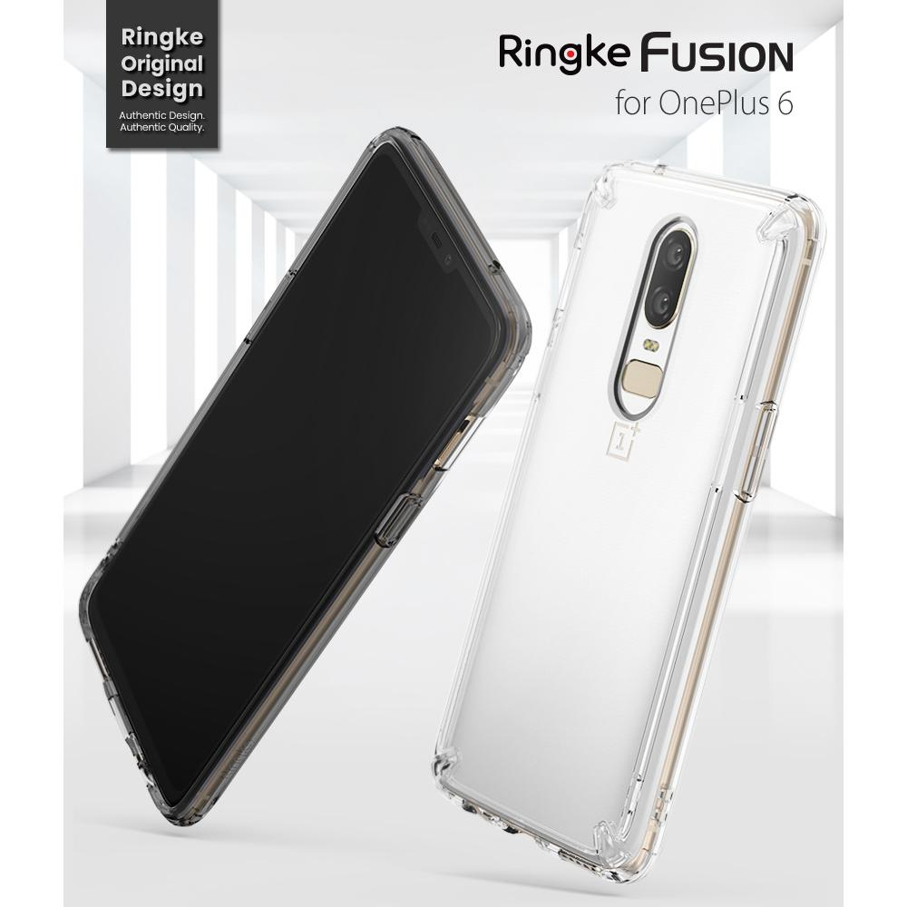 huge discount 3b93b d93f7 100% Original Ringke Fusion OnePlus 6 Clear Case PC Back Panel TPU Hybrid  Bumper Case for OnePlus 6