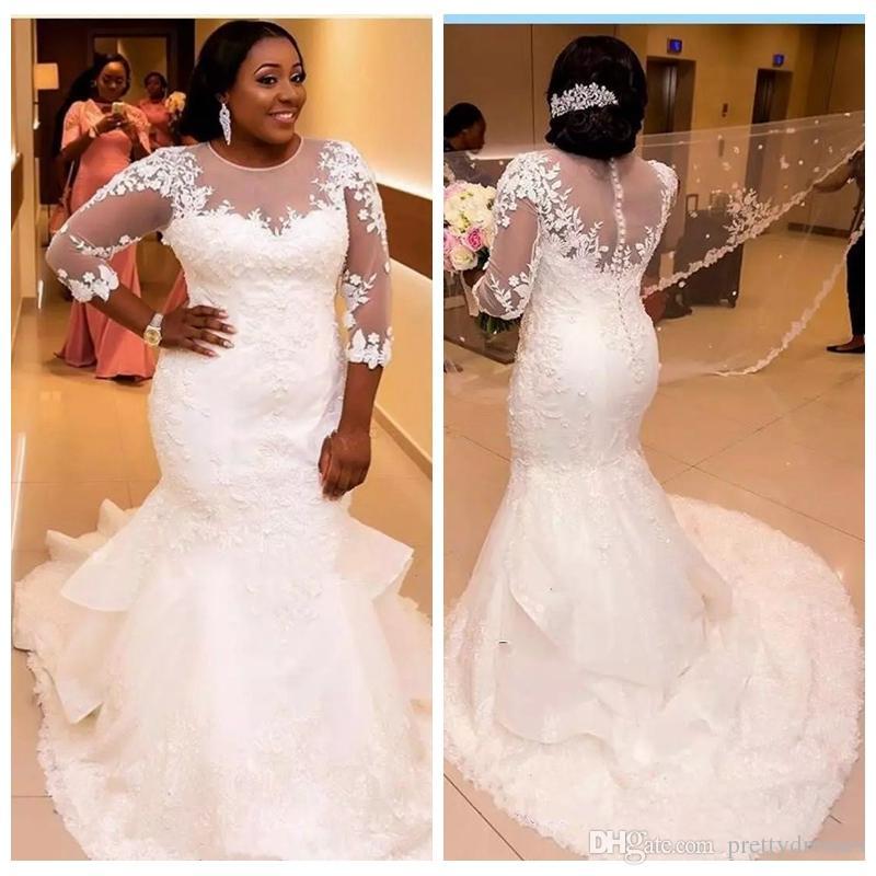 Vestidos de novia plus size 2019