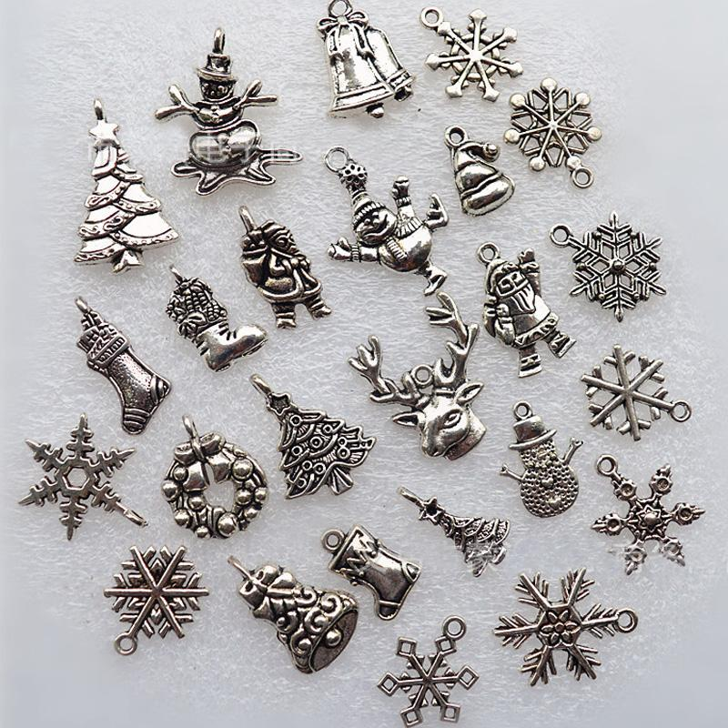metal charms pendants santa claus snowflake bells deer snowman christmas decorations for home xmas tree hanging ornaments outdoor holiday decorations