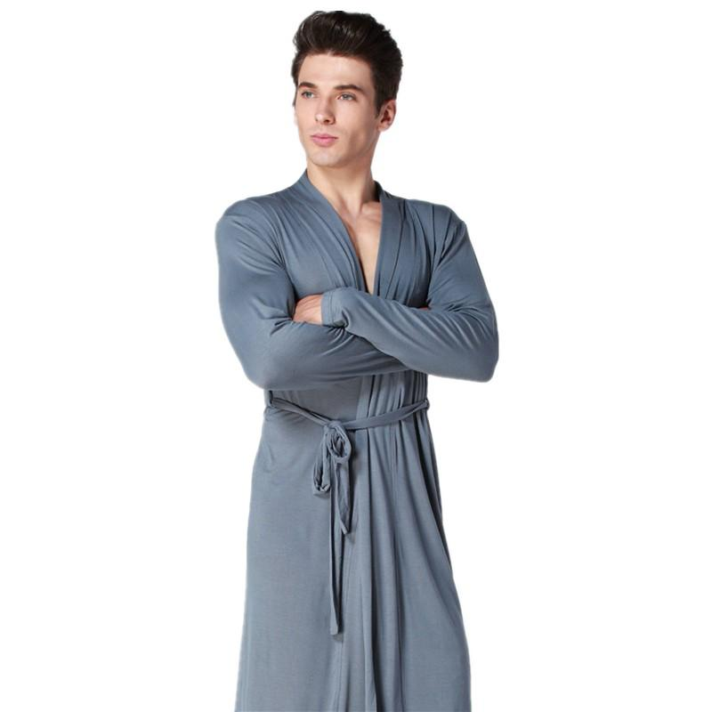 2018 Summer New Mens Kimono Bath Robe Modal Soft Sleepwear Home ...