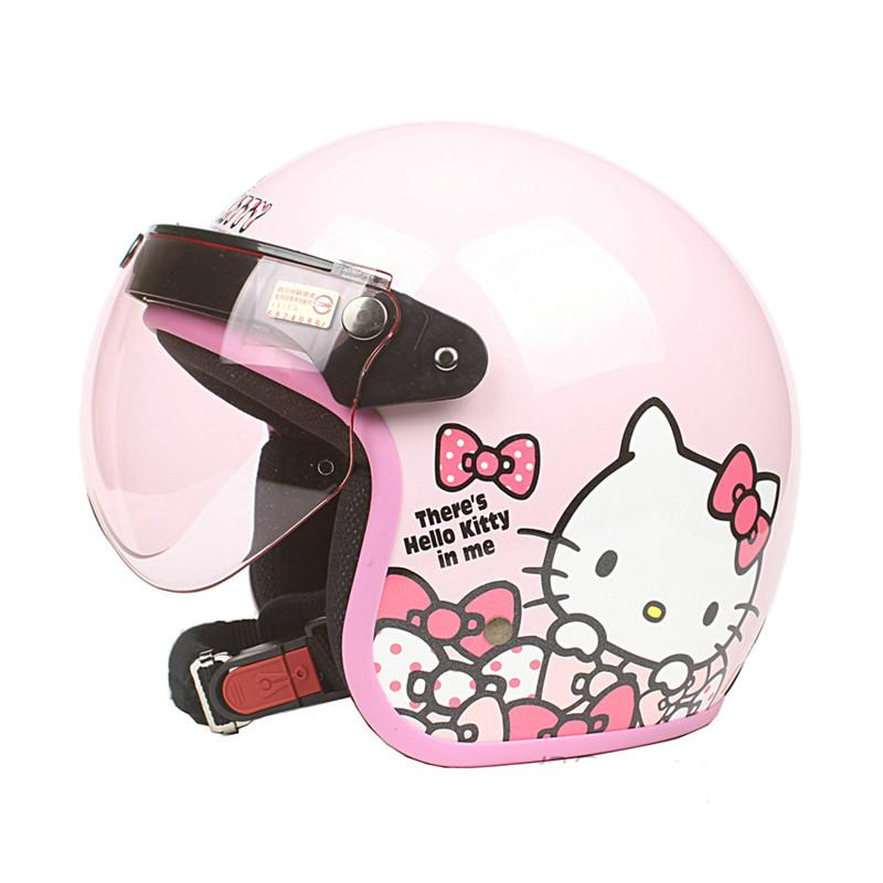 dd6a29846 New Arrival Womens Motorcycle Helmet Vintage Hello Kitty Helmet Girls  Scooter Half Pink Color Moto Casco Cool Moped Helmets Cool Motorbike  Helmets From ...