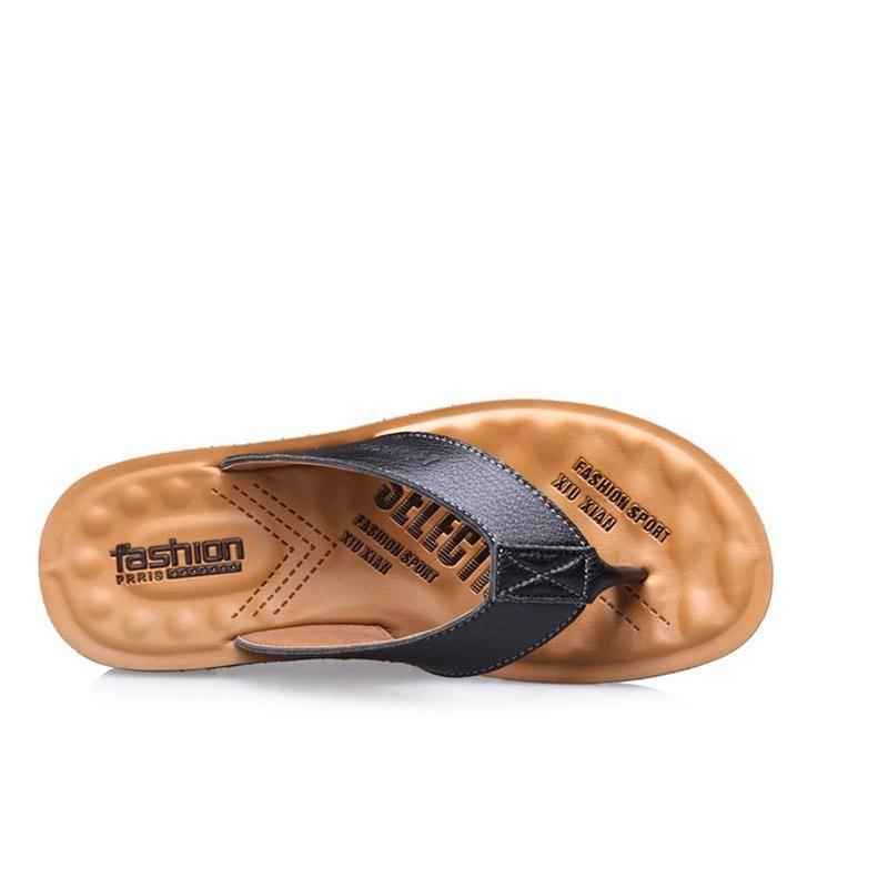 91930c73e0f Mens Summer Summer Cool Male Flip Flops British Style Slippers ...