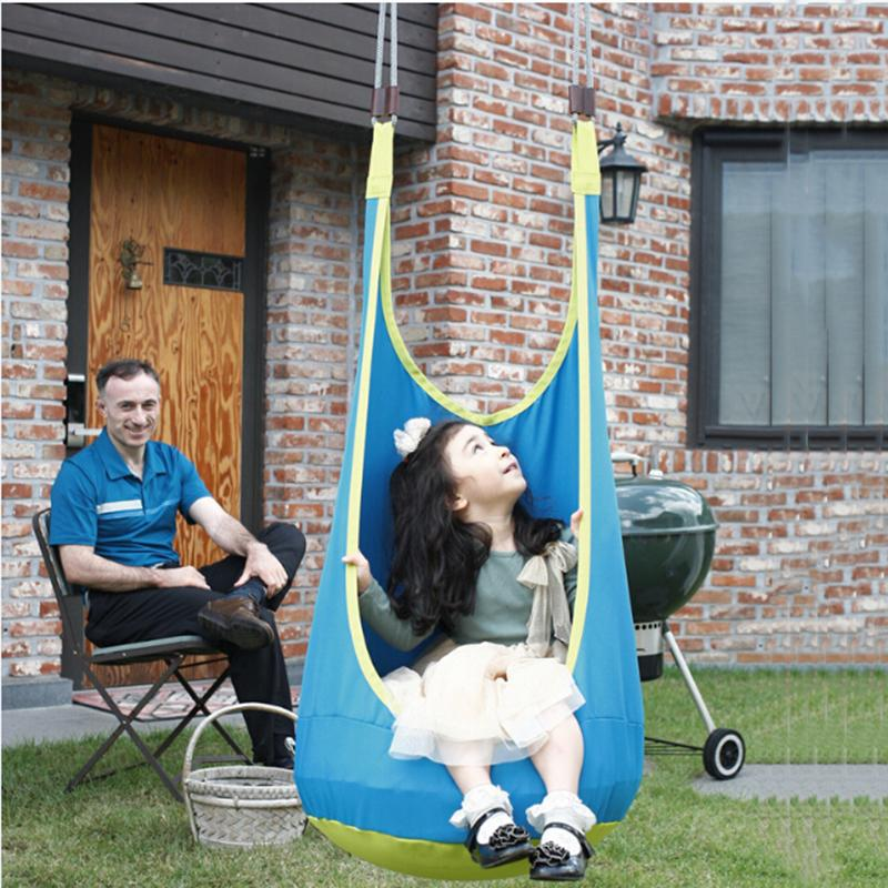 225 & Yontree 1 Pc Blue Baby Patio Swings Children Inflatable Hammock Outdoor Hanging Chair Pod Swing Free Shipping H1364y1