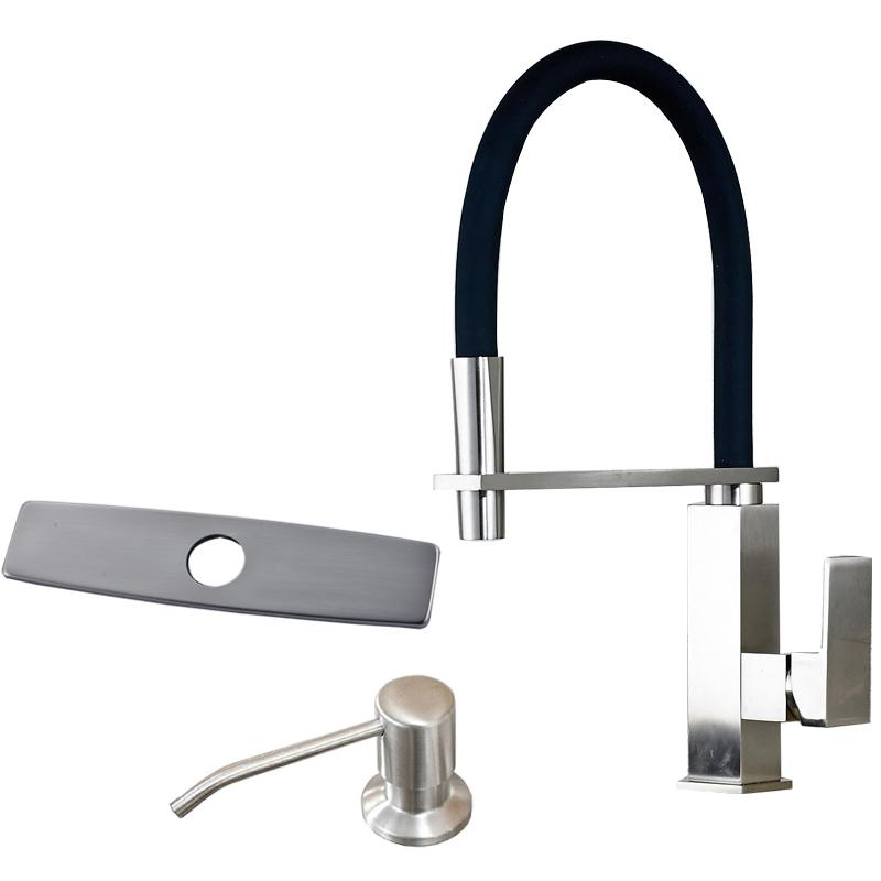 Best Brushed Nickel Kitchen Faucet Pull Down Swivel Spout Single