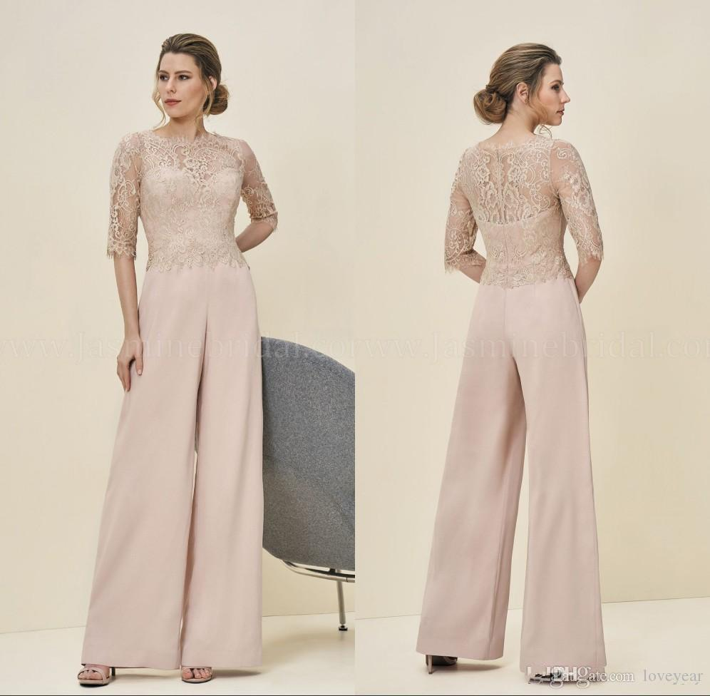9d636e25c876 2019 Formal Jumpsuits Evening Dresses Lace Wedding Guest Dress Zipper Back  Long Mother Of The Bride Pant Suits Joan Joan Rivers Joan Rivers On From  Loveyear ...