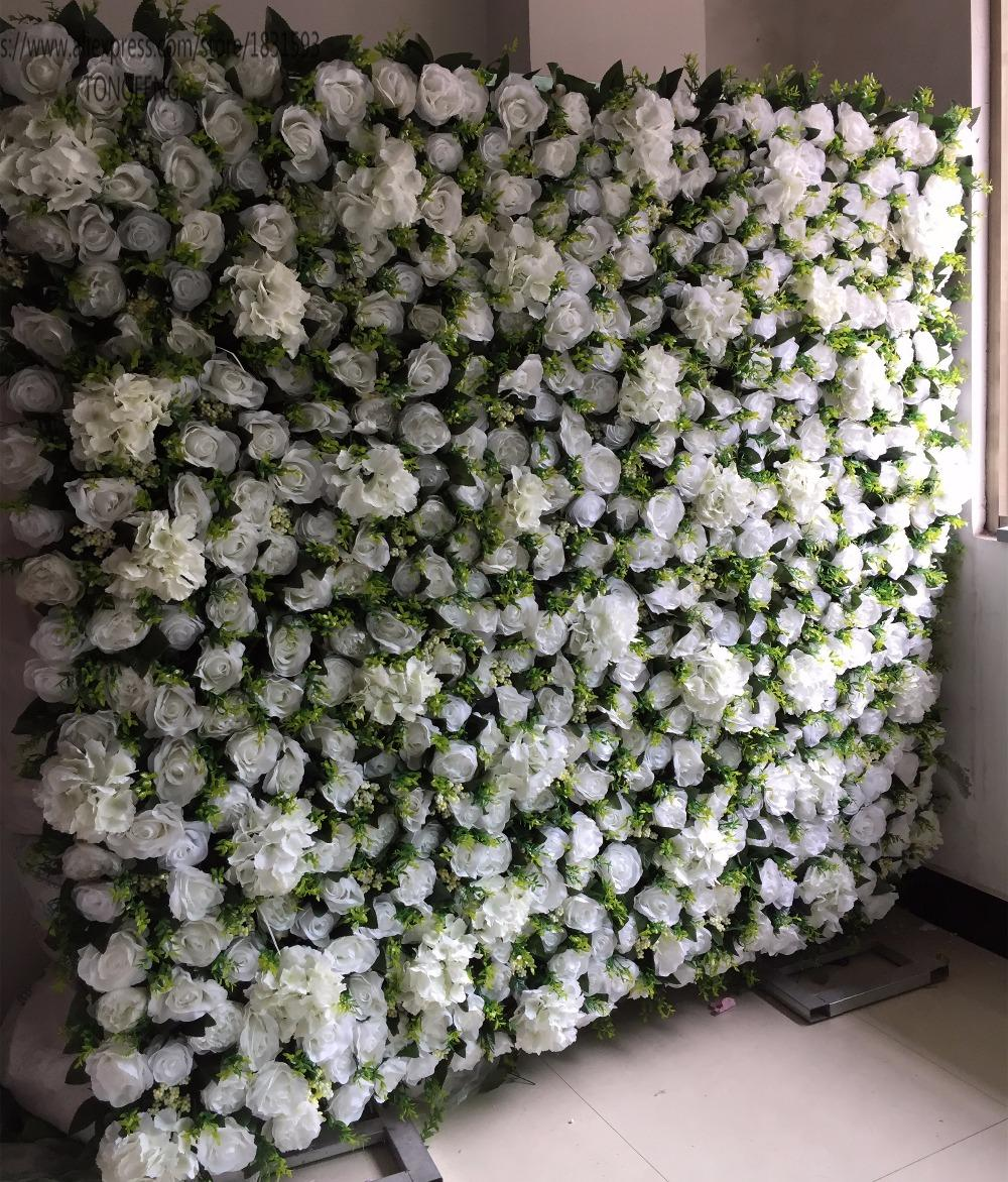 10pcs/lot Artificial silk rose peony flower wall wedding backdrop decoration floral arrangements for weddings IVORY TONGFENG