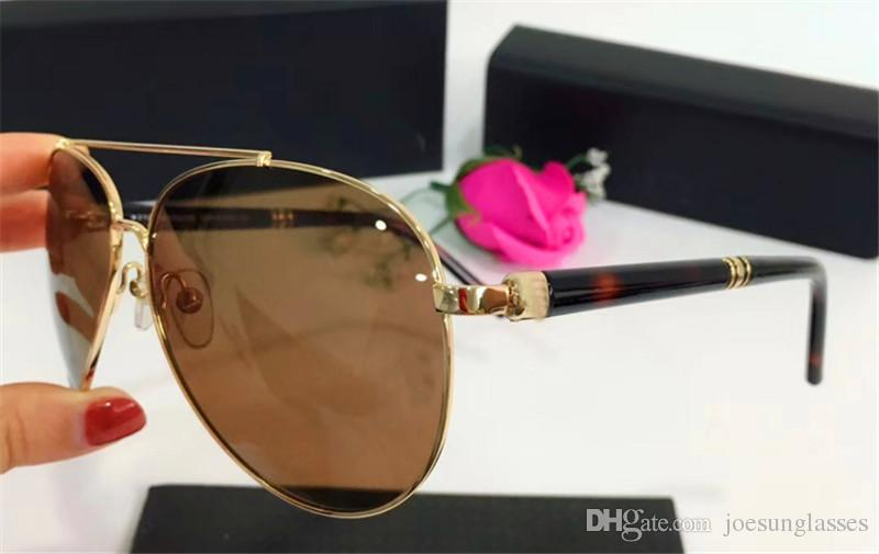 0d552ab4126 New Fashion Designer Sunglasses 518 Metal Pilot Frame Classic Simple ...