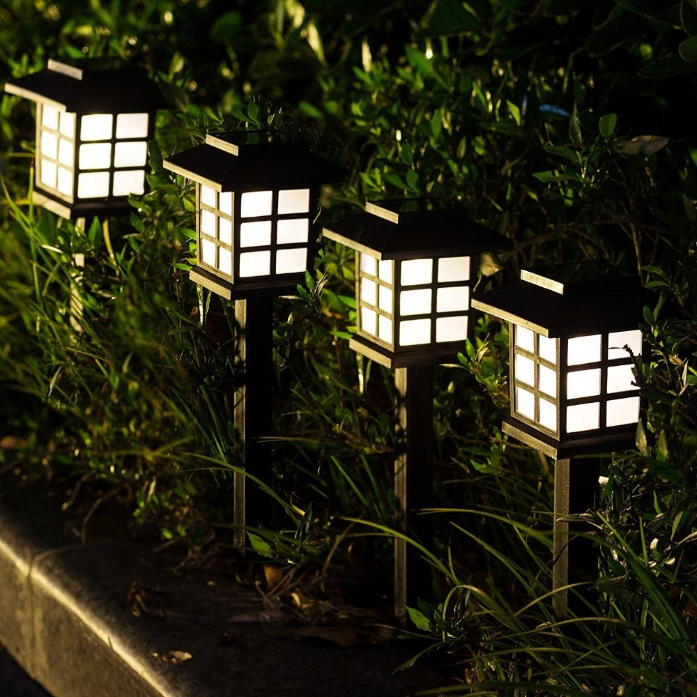 6Pcs Solar Pathway Lights Outdoor Waterproof Outdoor Solar Lights for  Garden Landscape Path Yard Patio Driveway Walkway