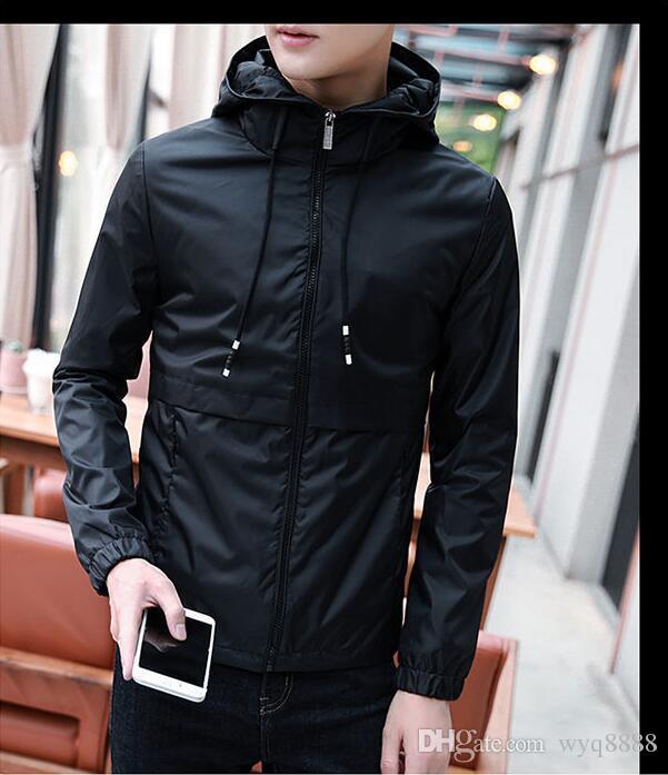 68e864279276a Compre Primavera Outono De 2018 Novos Homens Casaco Jaqueta De Desgaste Dos  Homens Sul Coreanos Casuais Tendência Casaco Bonito Roupas De Wyq8888