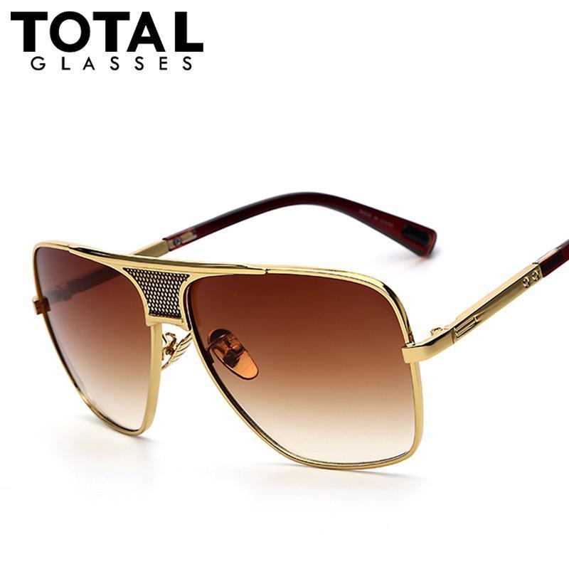 e31aed3b25 Compre Gafas De Sol Al Por Mayor Totalglasses Para Hombre Gafas De Sol De  Diseño De Marca De Verano De Gran Tamaño Con Montura De Gran Tamaño Y Gafas  De Sol ...