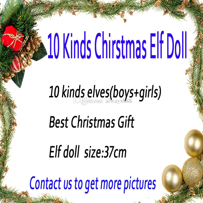 Christmas Elf Doll Plush Toys Boy Girl Elves XMAS Dolls And Books Toys On The Shelf For Kids Christmas Gift 20 Style