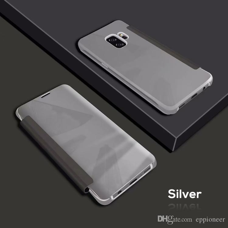 For Samsung Galaxy S9 S9 Plus S8 S8 Plus S7 S7 Edge S6 Edge S6 Edge Plus Filp Cover Cases Mirror View Clear Flip Electroplated Case