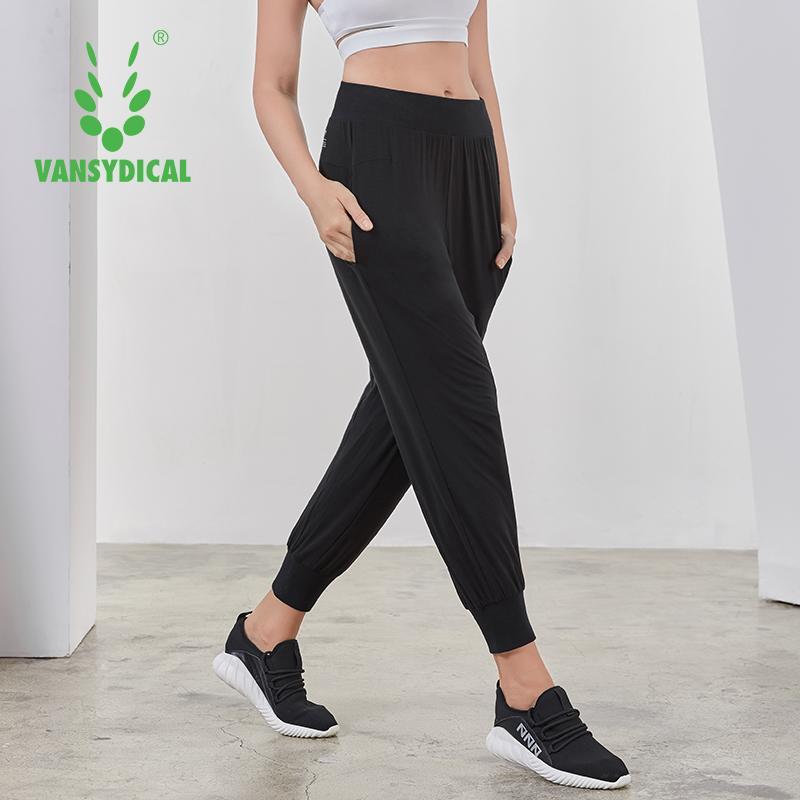 Compre Vansydical Pantalones Sueltos De Yoga Pantalones Largos Para La  Danza Deportes Para Mujeres Pantalones Para Correr Transpirable Gimnasio ... a92efb1ebb452
