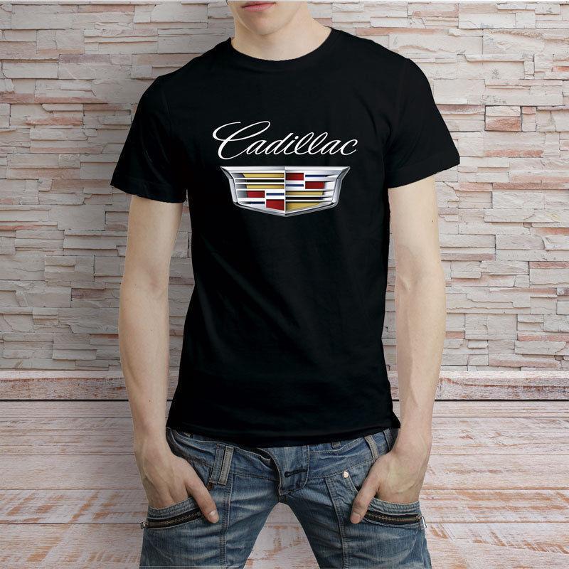 Cadillac Cars Logo Black T Shirt Tee Funny Unisex Casual Tee Gift