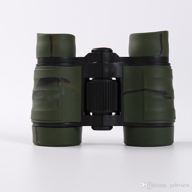 4 x 30 de goma binoculares niños mini telescopio de aumento para niños juegos al aire libre niños juguetes regalo