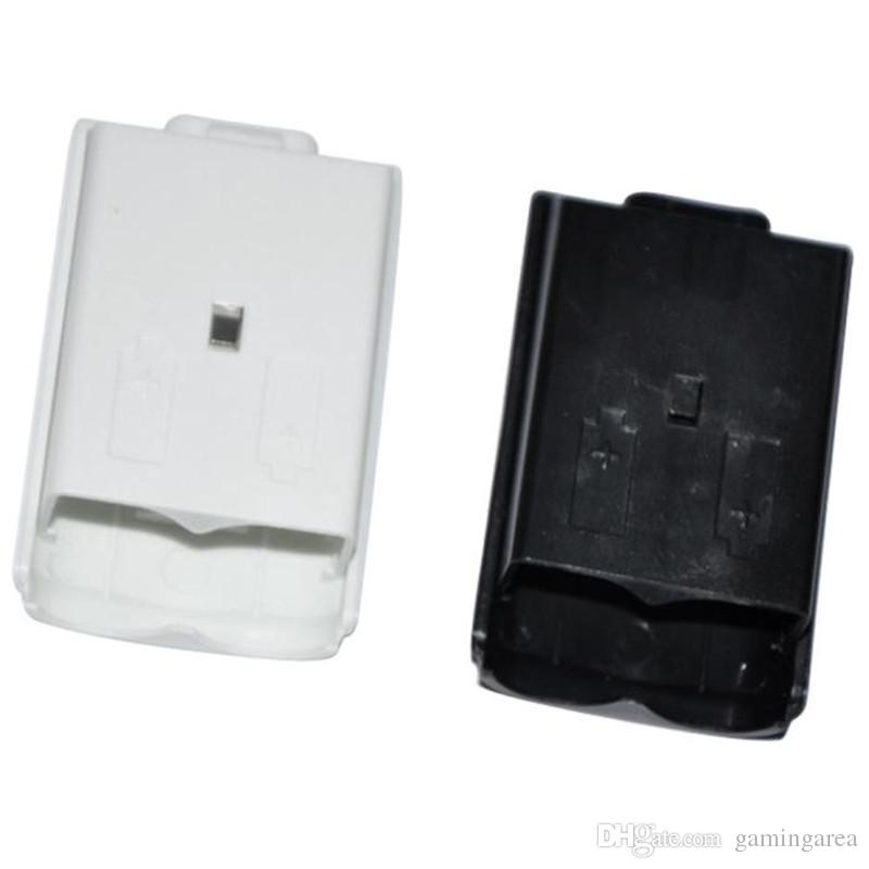 White Black Battery Pack Back Cover Shell Shield Case compartment Kit for Xbox 360 Wireless Controller DHL FEDEX EMS