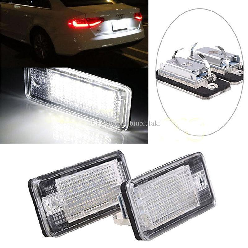 Best Quality 18 LED Error Free License Plate Light Lamp For Audi A3 ...