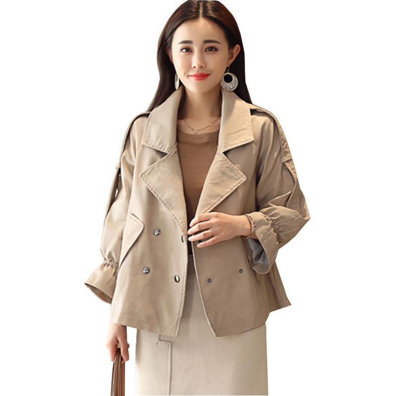 fa92a23d8 Women Short Leather Jacket 2018 Autumn New Loose Thin Korean Suit collar  Locomotive PU Leather Fashion Female outwear Coat YL302