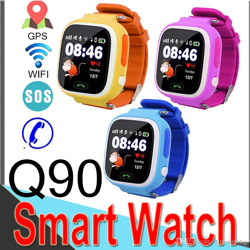 Q90 Bluetooth GPS Tracking Smart Watch Touch Screen with WIFI for IOS Android SOS Call Anti Lost Smart Phone Wearable Band R7