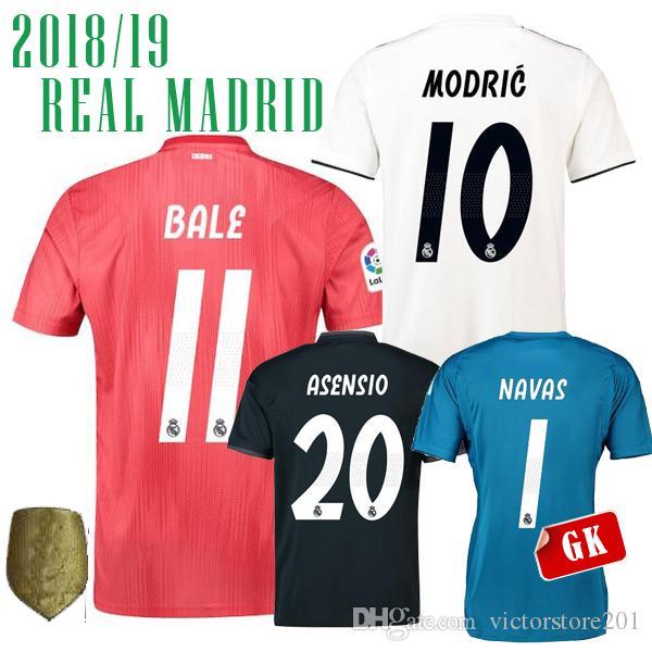b75f3bbe8f1 ... hot 18 19 real madrid third away red soccer jerseys bale arsensio  benzema home modric 2018