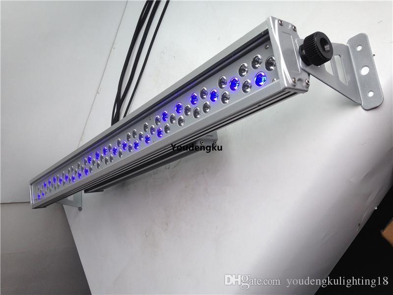 2 parça 72x3 w su geçirmez duvar yıkama led dmx led rgb açık bar led yıkama duvar