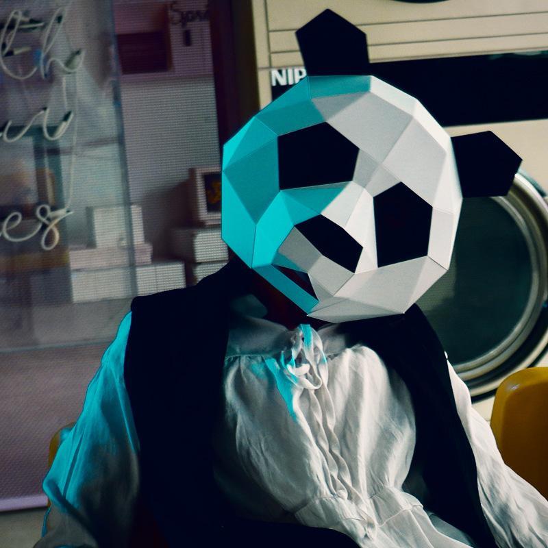Compre Atacado Animal Máscara Traje Cosplay Panda Adulto Crianças